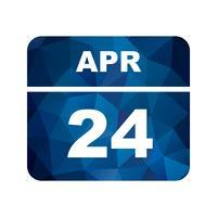 24 april Datum op een eendaagse kalender