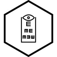 Oogtest pictogram ontwerp