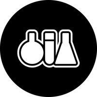 Reageerbuizen pictogram ontwerp