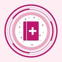 Medisch boek pictogram ontwerp