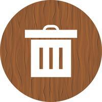 Prullenbak pictogram ontwerp vector