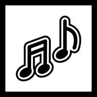 Muziek pictogram ontwerp
