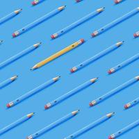 Hoog gedetailleerde kleurrijke achtergrond met potloden, vectorillustratie