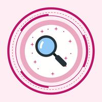 Zoek pictogramontwerp vector