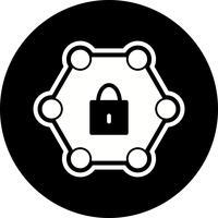 Beschermd netwerk pictogram ontwerp vector