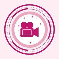 Videocamera pictogram ontwerp vector