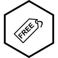 Gratis ontwerp van een tag-pictogram vector