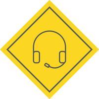 Hoofdtelefoon pictogram ontwerp vector