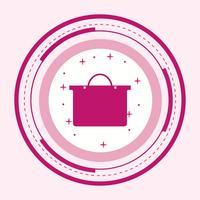 Boodschappentas pictogram ontwerp vector