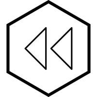 Backward Arrows Icon Design