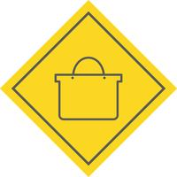 Boodschappentas pictogram ontwerp