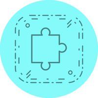 Puzzel stuk pictogram ontwerp vector