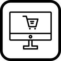 Online winkelen pictogram ontwerp vector