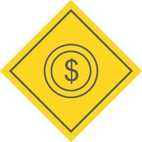 dollar munt pictogram ontwerp vector