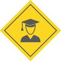 Mannelijke student pictogram ontwerp