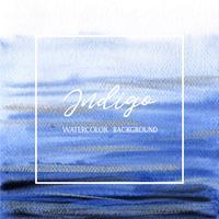 Indigo, Ultra mariene kleurenwaterverf en gouache van het achtergrondtextuurbanner ontwerpplons grunge, ruimte met vector de illustratiebehang van de tekstdruk.