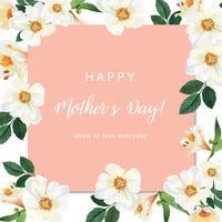 Van de het waterverfhuwelijk van de magnolia Bloeiende bloem kaarten bloemenaquarelle, de uitnodiging bewaart de datum, het huwelijk viert huwelijk, de illustratie van het Dankkaartontwerp. vector
