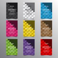 Moderne abstracte covers instellen. Kleurrijke afficheachtergrond, vectorontwerp.