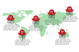 Infographics vector ontwerp en marketing pictogrammen