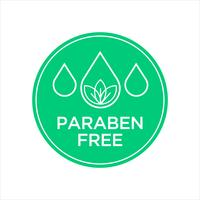 Paraben gratis pictogram. vector