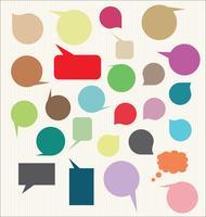 Spraak bubbels lege vector
