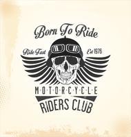 Vintage motorfiets achtergrond vector