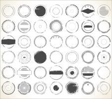 Lege grunge Rubberstempel collectie