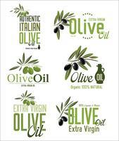 Olijfolie retro labels-collectie vector