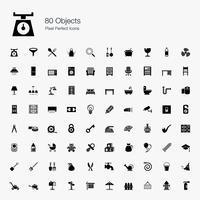 80 objecten Pixel perfecte pictogrammen.