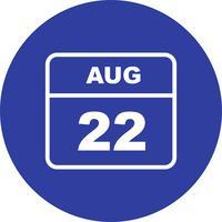 22 augustus datum op een eendaagse kalender