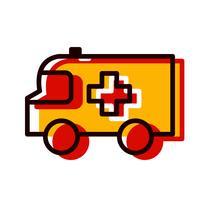 Ambulance pictogram ontwerp vector