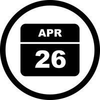 26 april Datum op een eendaagse kalender