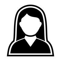 Vrouwelijke student pictogram ontwerp