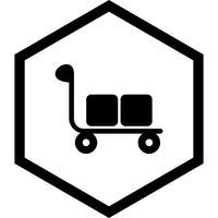 Trolley pictogram ontwerp vector