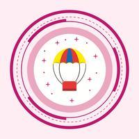 Luchtballon pictogram ontwerp