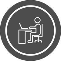 Laptop-pictogramontwerp gebruiken