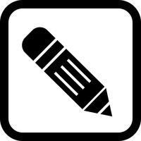 Potlood pictogram ontwerp