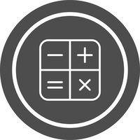 Calculator pictogram ontwerp
