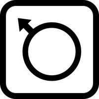 Mannelijk pictogram ontwerp vector