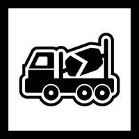 Betonmixer pictogram ontwerp