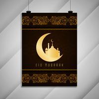 Abstracte Eid Mubarak decoratieve elegante brochure