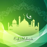 Abstracte religieuze Eid Mubarak islamitische achtergrond