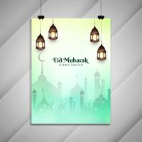 Abstract Eid Mubarak decoratief flyerontwerp