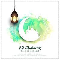 Abstracte Eid Mubarak-waterverfillustratie als achtergrond