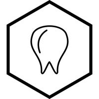 Tand pictogram ontwerp