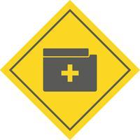 Medische map pictogram ontwerp