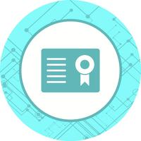 Certificaat pictogram ontwerp