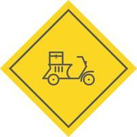 Levering motorfiets pictogram ontwerp