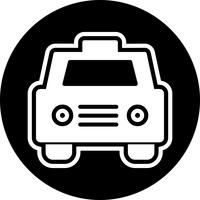Taxi pictogram ontwerp