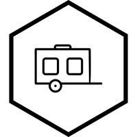 Wagon pictogram ontwerp